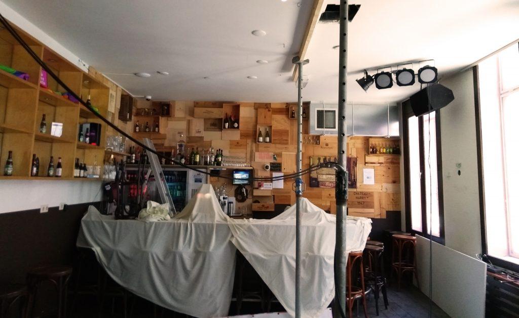Café Rosé tijdelijk gesloten vanwege plafond